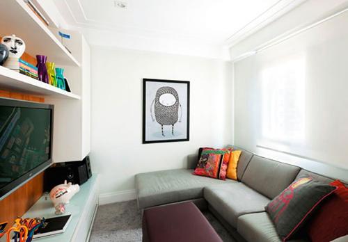 Phòng khách nhỏ xinh ấm áp-6