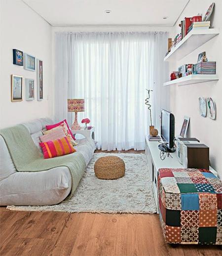 Phòng khách nhỏ xinh ấm áp-8